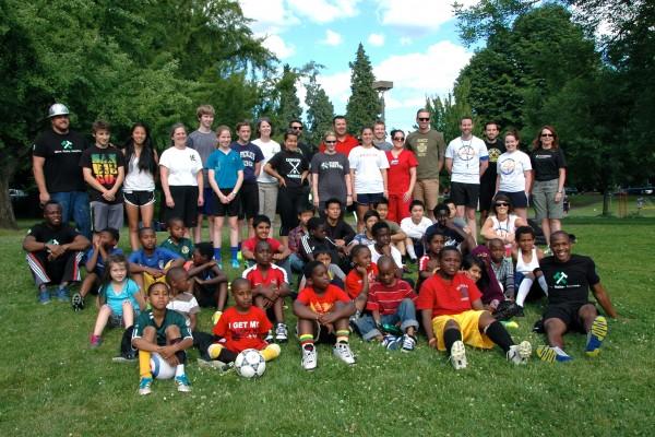 Timbers visit 4WU Summer Soccer!